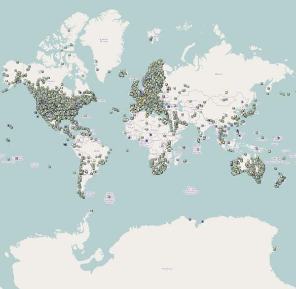 Cachekarte weltweit