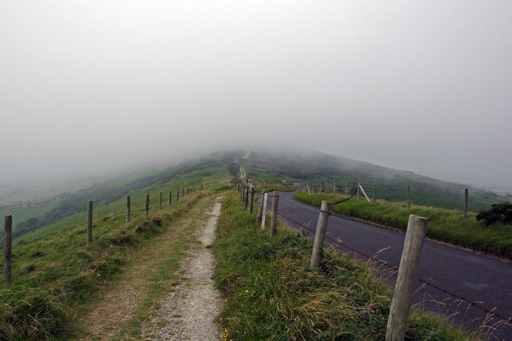 Tyneham - Nebel auf Rückweg