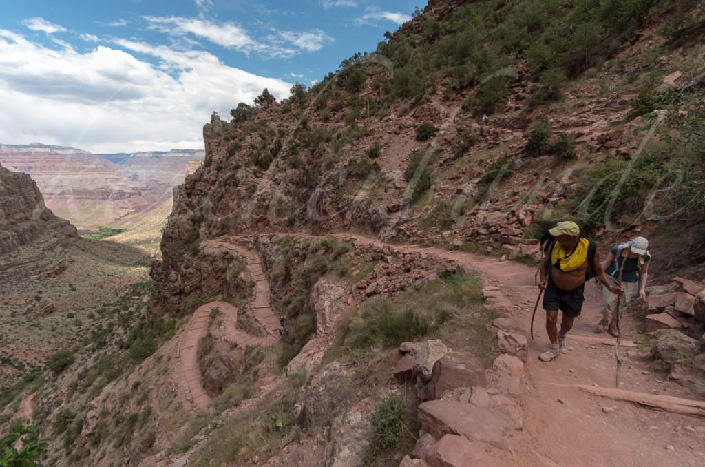 Bright Angel Trail - Blick zurück