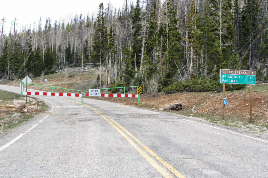 Cedar Breaks Zufahrt gesperrt