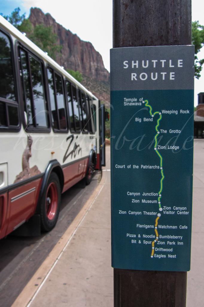 Zion - Shuttle Route