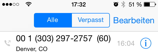 Phone log