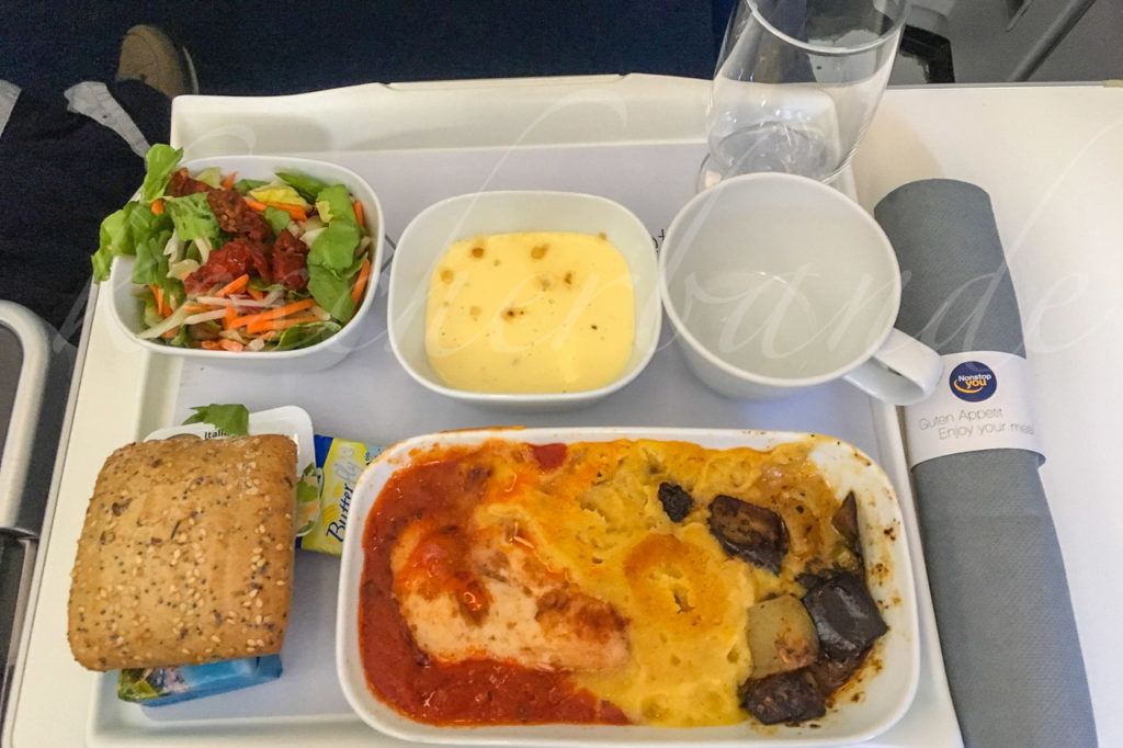 Airplane meal - lunch