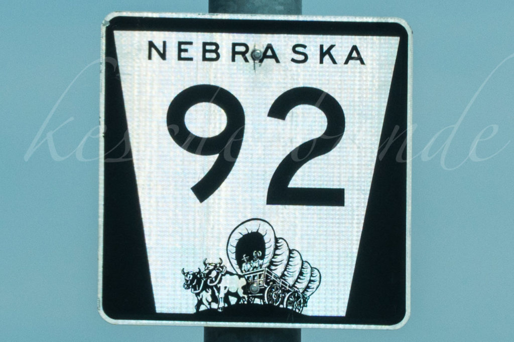 Nebraska road sign